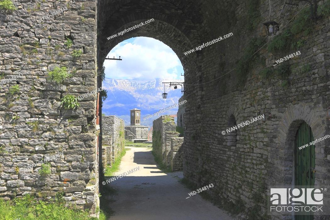 Stock Photo: Gjirokaster Castle, Albania.