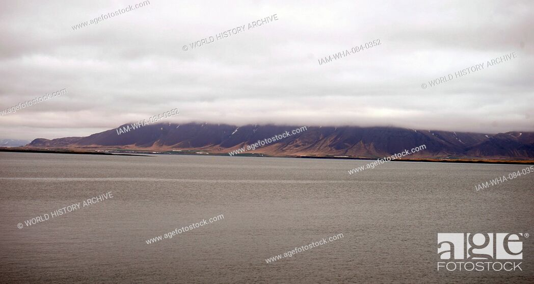 Stock Photo: View from the old harbour in Reykjavik, Iceland. Dated 21st Century.