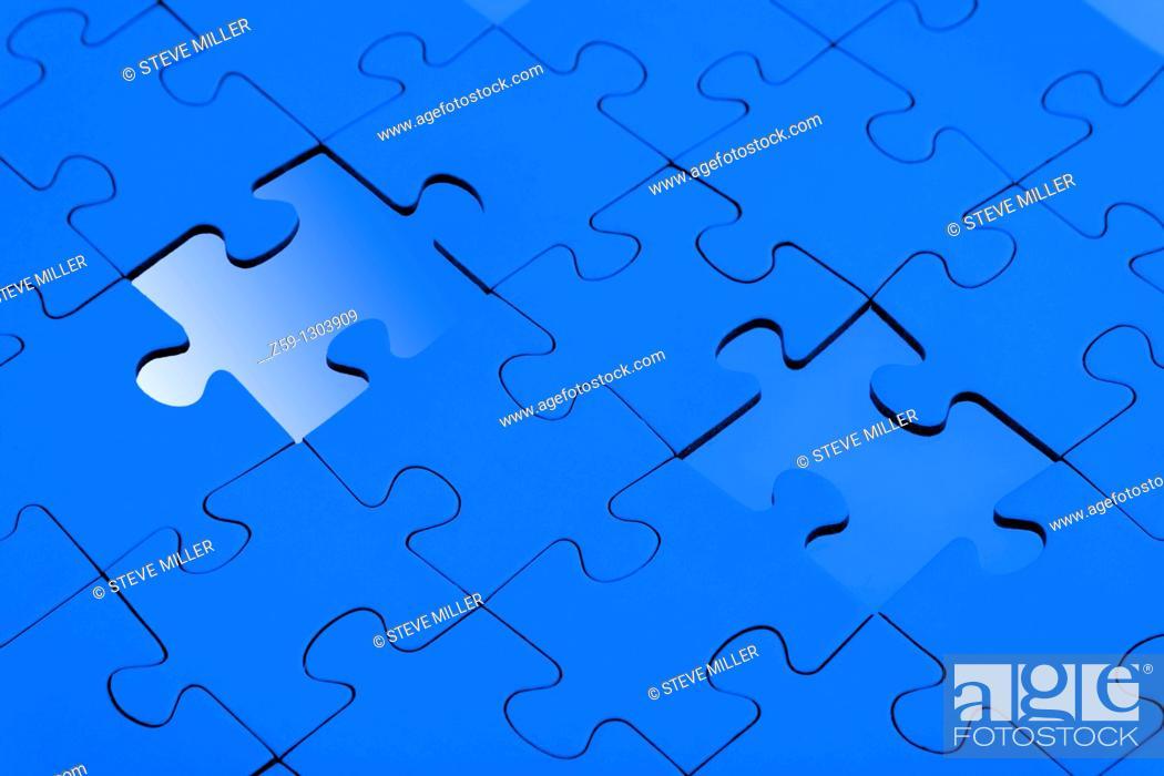 Stock Photo: digital enhancement - parts of jigsaw - symbolism for existential orientation resp  education.