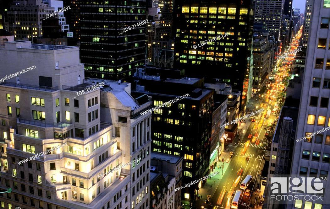 Stock Photo: Fifth Avenue NY.