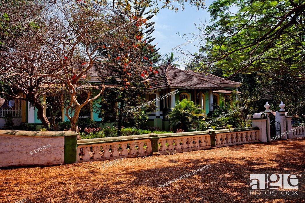 Stock Photo: Trees around the Salvador Da Costa Mansion, Loutolim, Salcetta, South Goa, Goa, India.