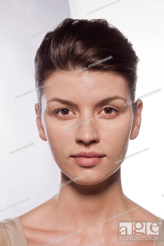 Stock Photo: Step 1 - Before makeup.