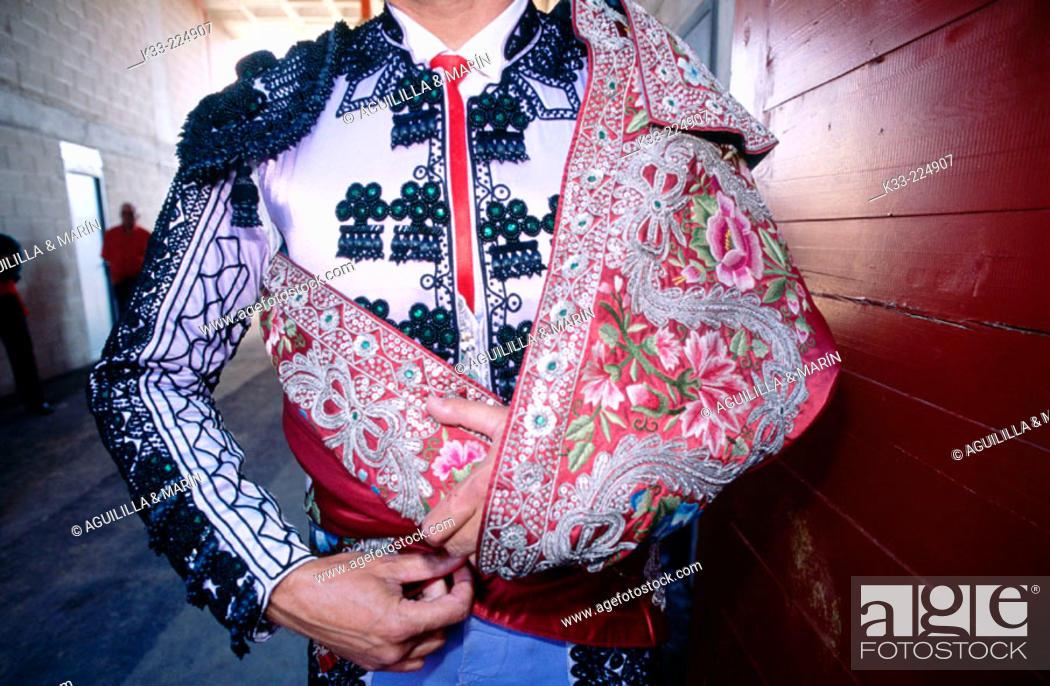 Stock Photo: Bullfighter dressed.