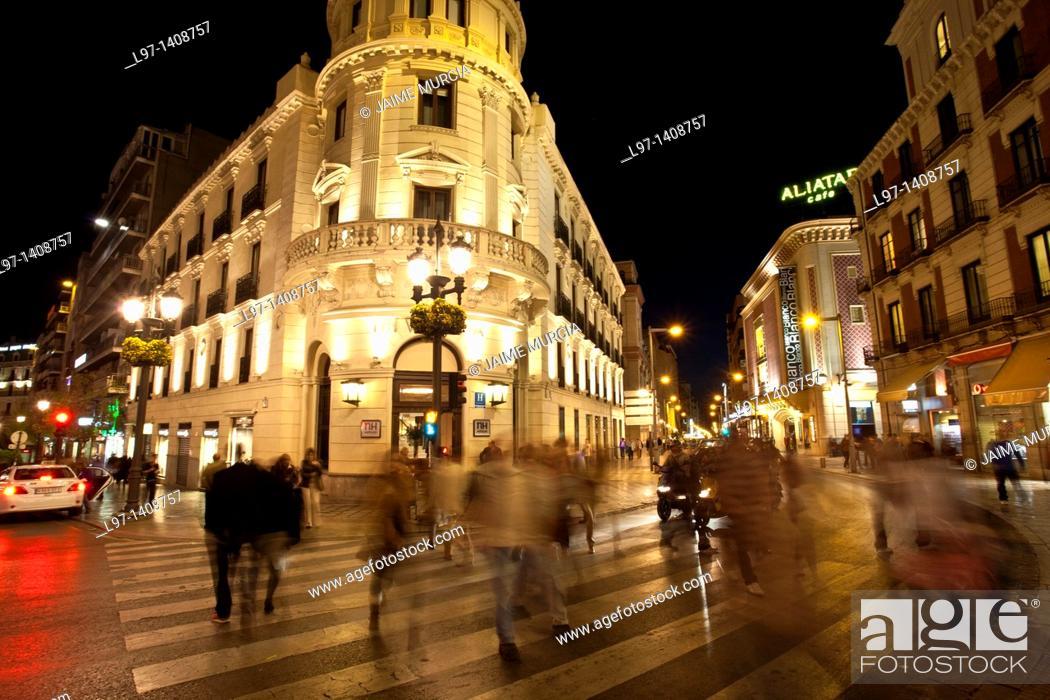 Stock Photo: Street scene Granada, Spain.