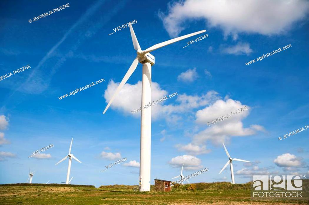 Stock Photo: Carland Cross Windfarm. Cornwall. England. UK.