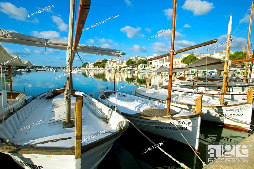 Stock Photo: Fishing port. Porto Colom. Majorca. Balearic Islands. Spain.
