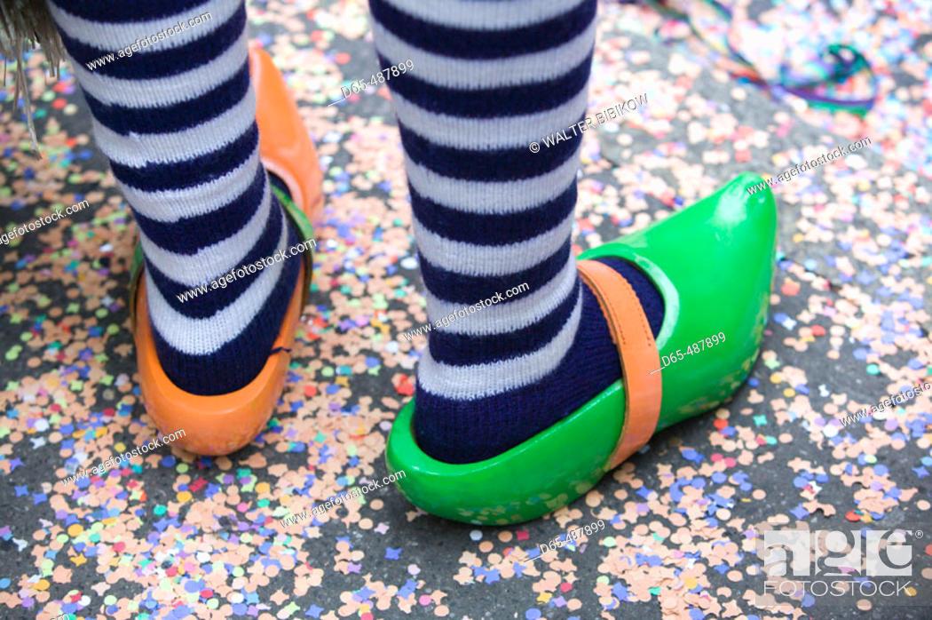 Stock Photo: Fasnacht Carnival. Fasnacht shoes. Basel. Switzerland.