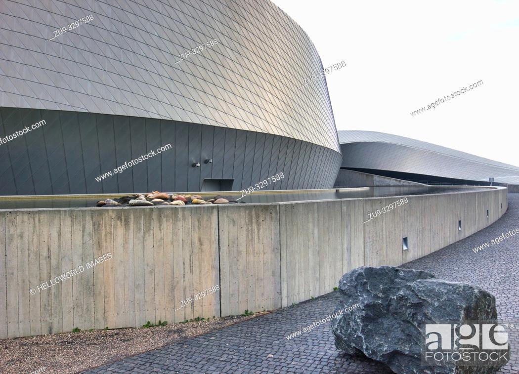 Stock Photo: National Aquarium Denmark (Den Bla Planet), Kastrup, Copenhagen, Denmark, Scandinavia. Opened in 2013 and is the largest aquarium in northern Europe.