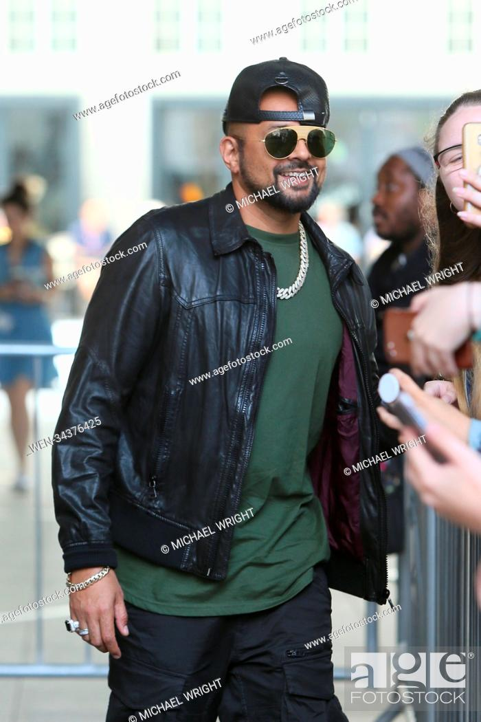 Sean Paul seen leaving BBC radio 1 after doing radio interviews