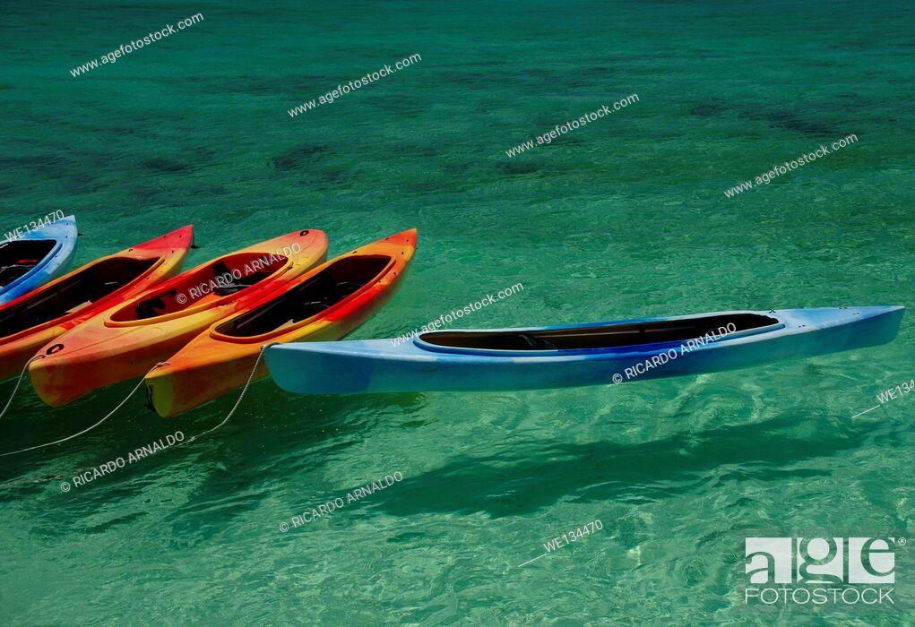 Stock Photo: Kayaks in the Florida Keys.