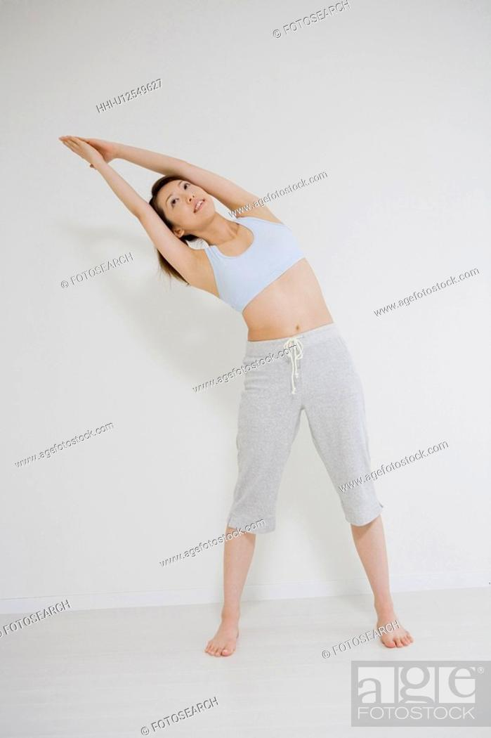 Stock Photo: Woman who does stretching.