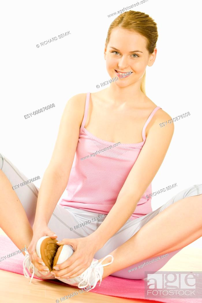 Stock Photo: woman at gym.