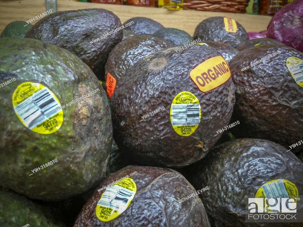 Calavo Growers branded Mexican avocados in a supermarket in