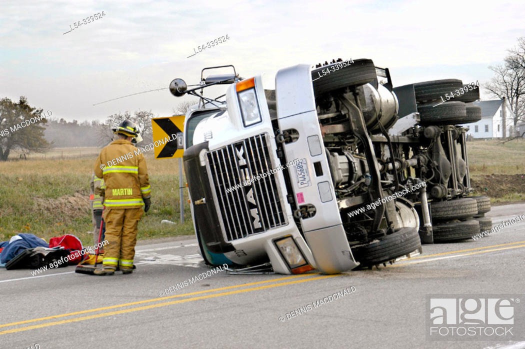 Stock Photo: Road accident.