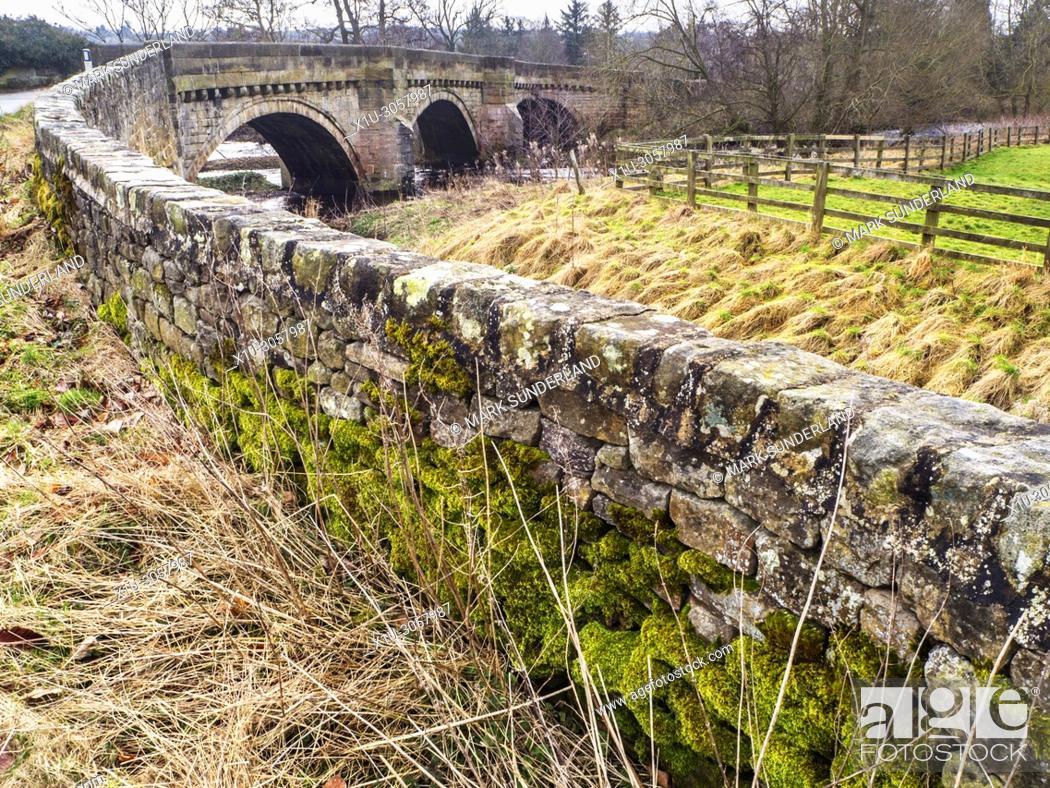 Imagen: Bridge over the River Nidd in Hampsthwaite Nidderdale North Yorkshire England.
