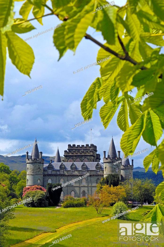 Stock Photo: Inveraray Castle, Argyll & Bute, Scotland, UK.