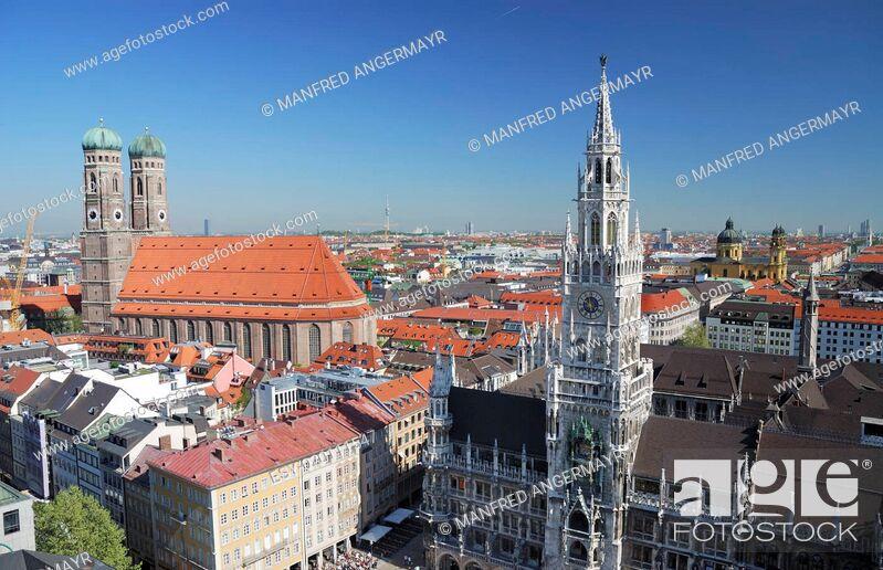 Stock Photo: View over Munich.