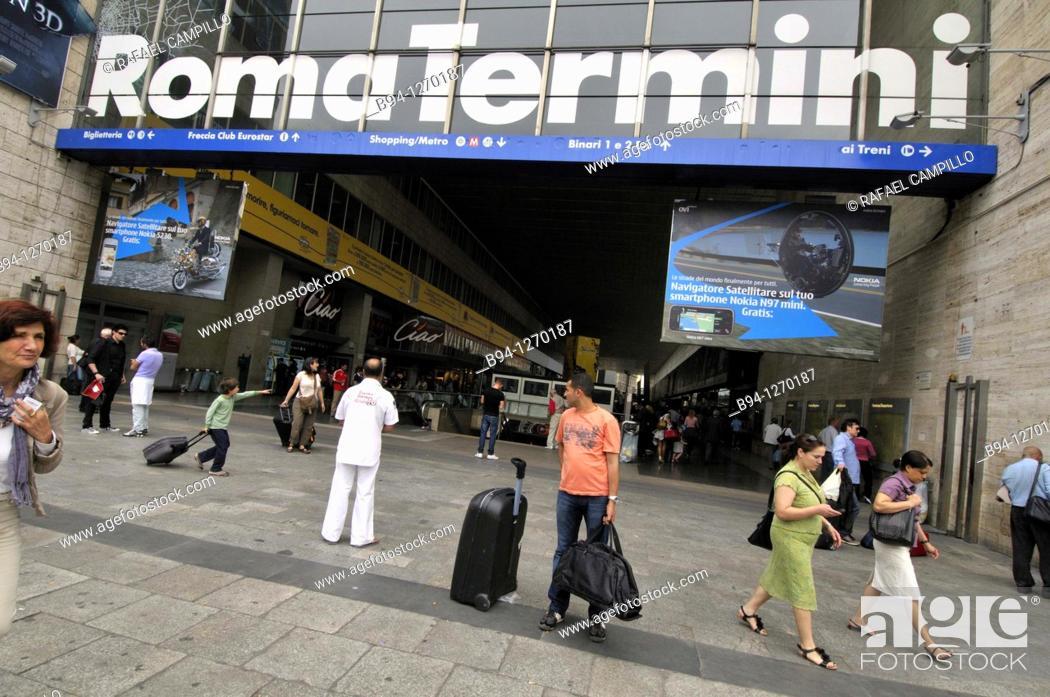 Stock Photo: Roma Termini, railway station. Rome, Italy.