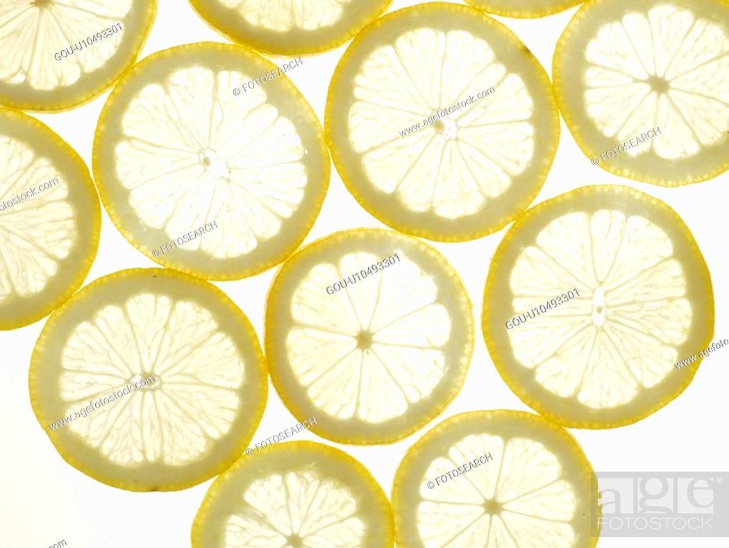 Stock Photo: nature, plant, lemon, fruit, plants, slice.