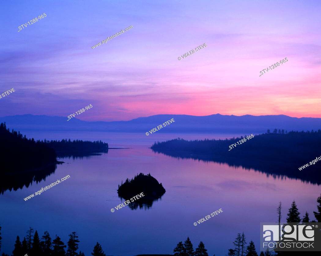 Imagen: America, Forest, Holiday, Inspiration, Inspirational, Island, Isolated, Isolation, Lake, Lake tahoe, Landmark, Nevada, Purple, S.