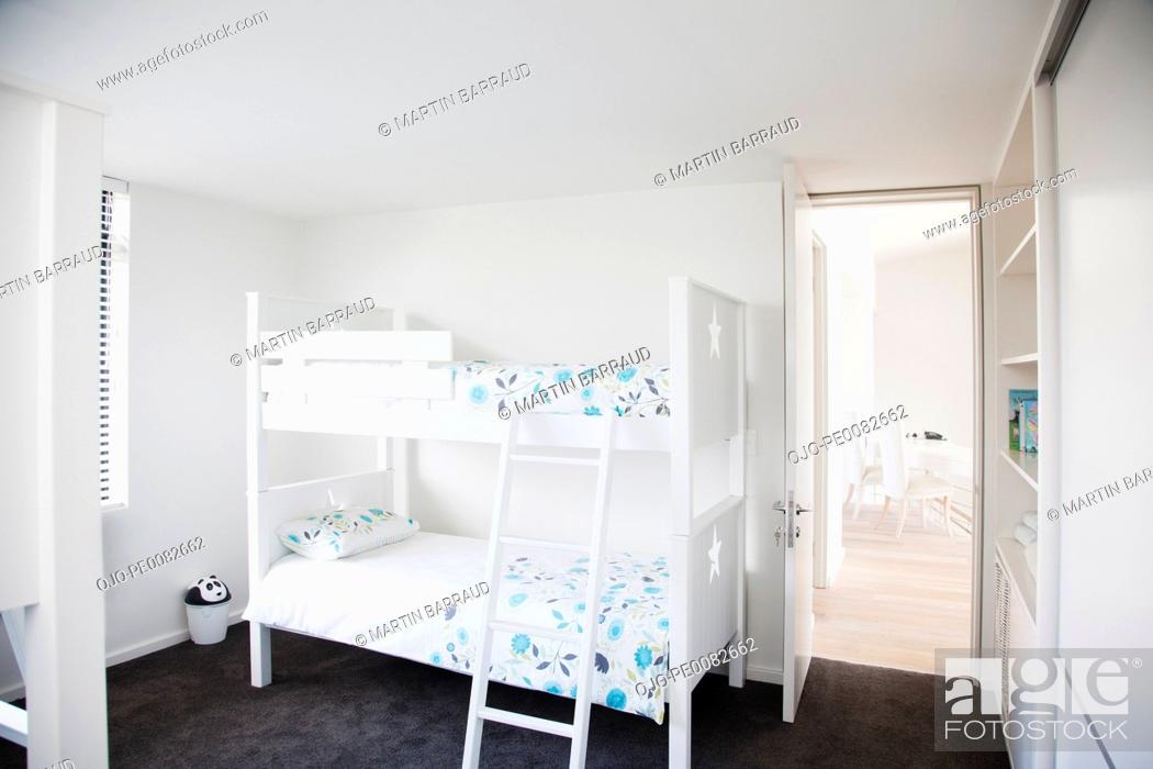 Stock Photo: Bunk beds in children's bedroom.