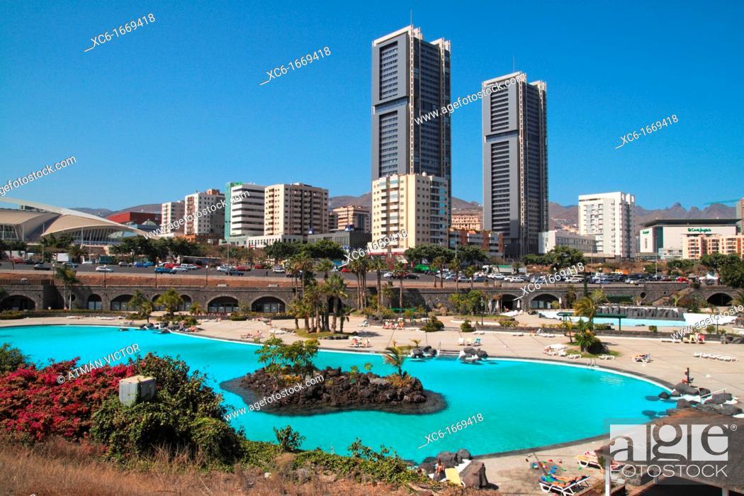 Stock Photo: twin towers. Santa Cruz de Tenerife.