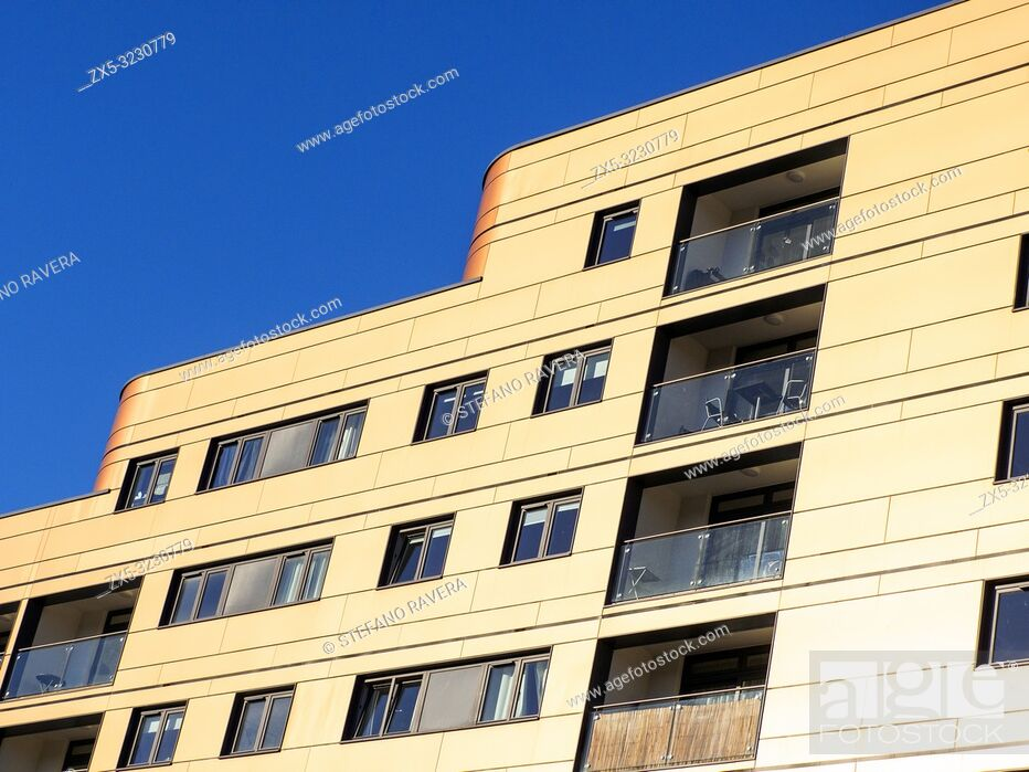 Stock Photo: Sesame apartments in Wandsworth developed by Thornsett Group - South West London, England.