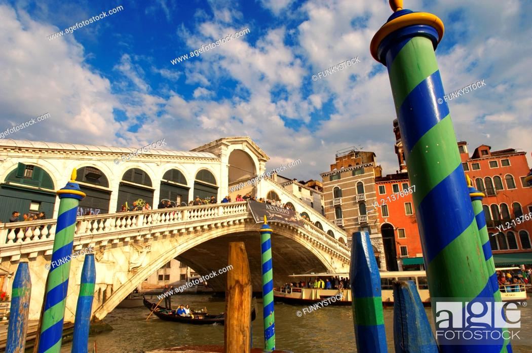Stock Photo: Rialto Bridge - Venice Italy.