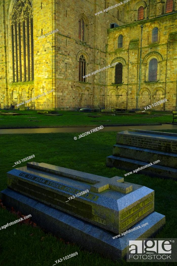 England County Durham Durham City Memorial Gravestone Within The