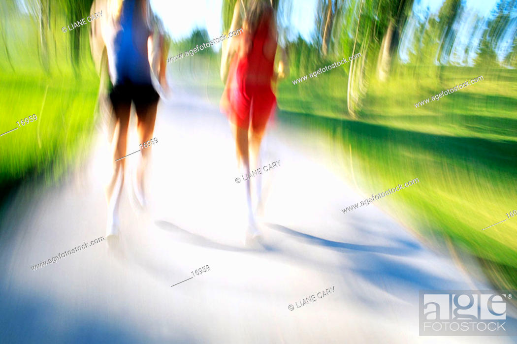 Stock Photo: Running together.