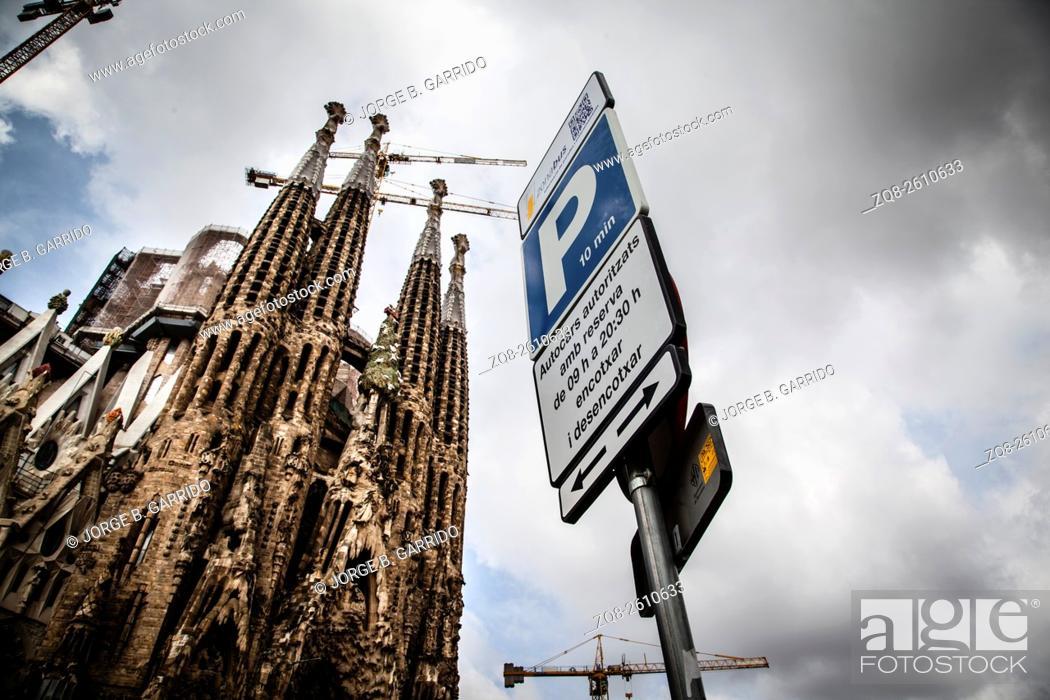 Stock Photo: La Sagrada Familia - the impressive cathedral designed by Gaudi.