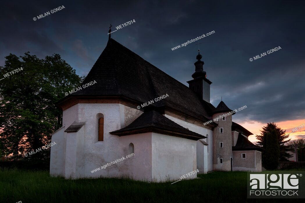 Stock Photo: Gothic church in Pribovce village in Turiec region, Slovakia.