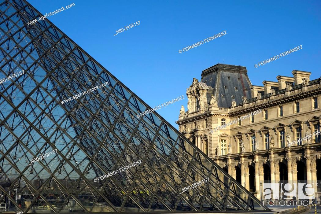 Stock Photo: Louvre Museum. Paris. France. Europe.