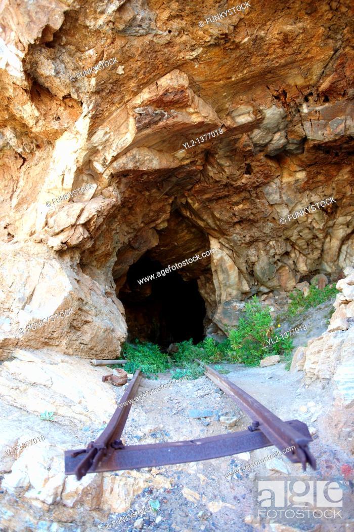Stock Photo: Old Emery mine on Naxos, Greek Cyclades Islands.