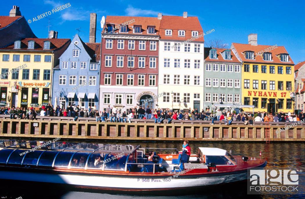 Stock Photo: Nyhavn channel. Copenhaguen. Denmark.