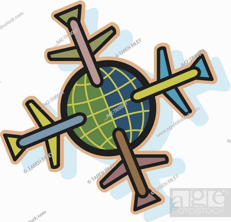 Stock Photo: Travelling the globe.
