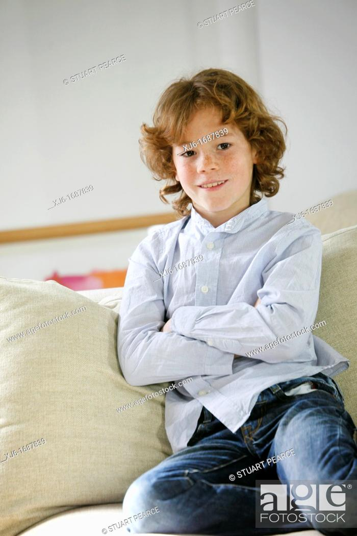 Stock Photo: Boy at home.