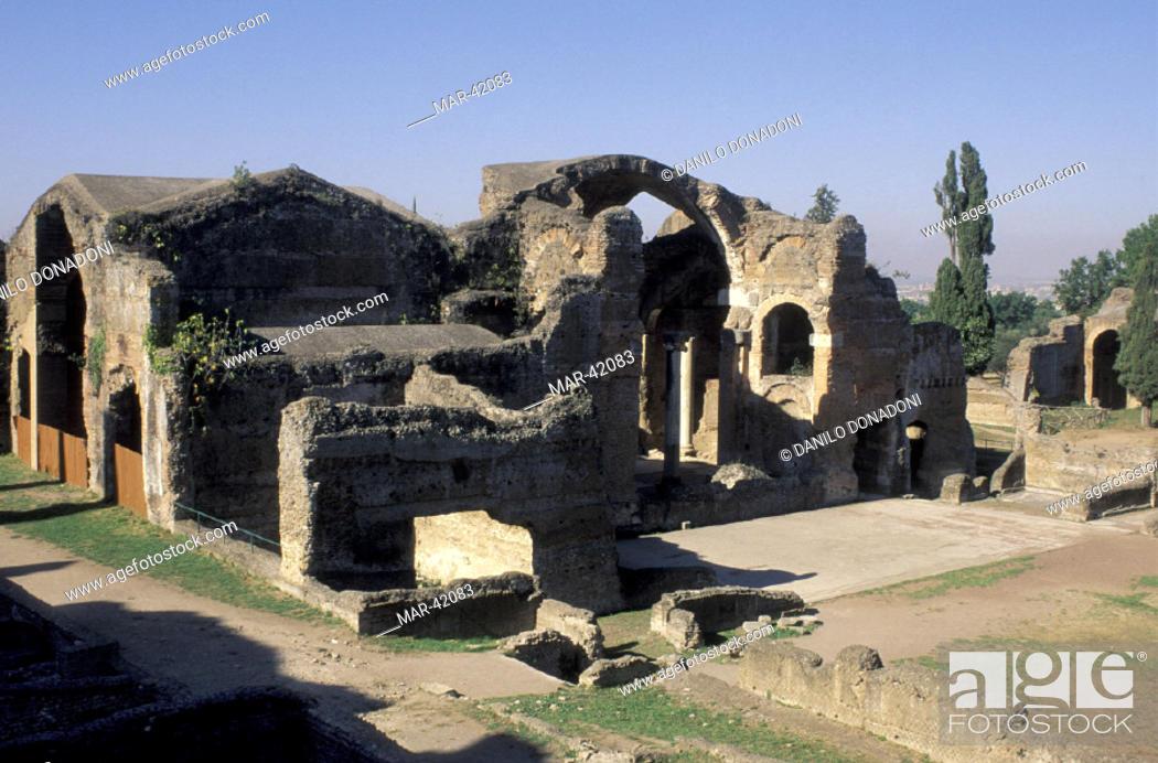 Stock Photo: villa adriana: big baths, tivoli, italy.