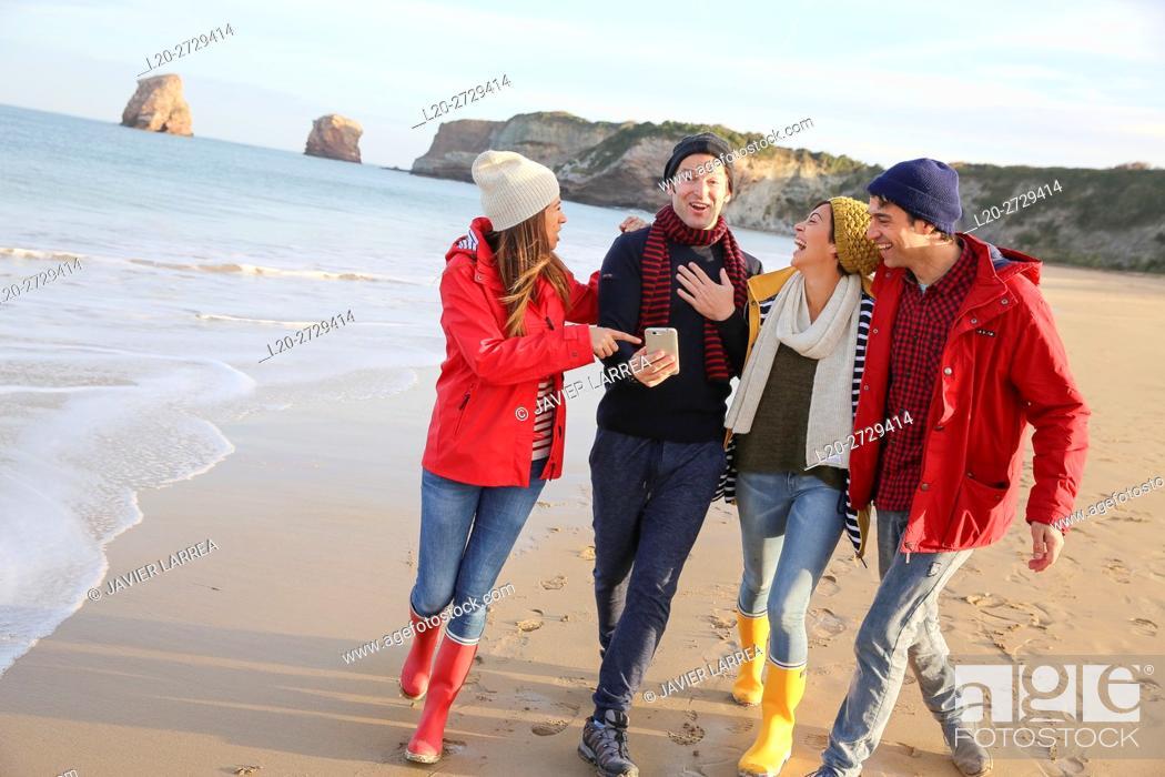 Stock Photo: Lifestyles, Hendaya Beach.