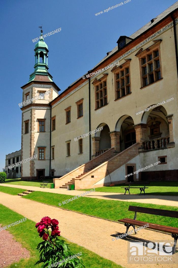 Stock Photo: Palace of the Krakow Bishops in Kielce, Swietokrzyskie Voivodeship, Poland.