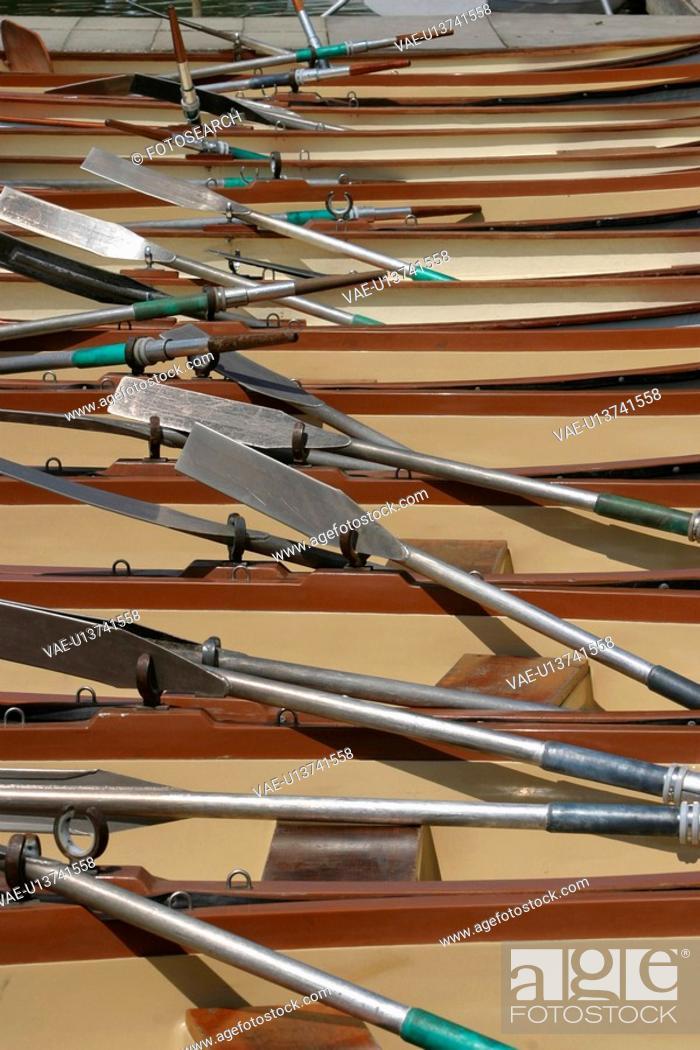 Stock Photo: metal, oar, leisure, sports, recreation, rows.