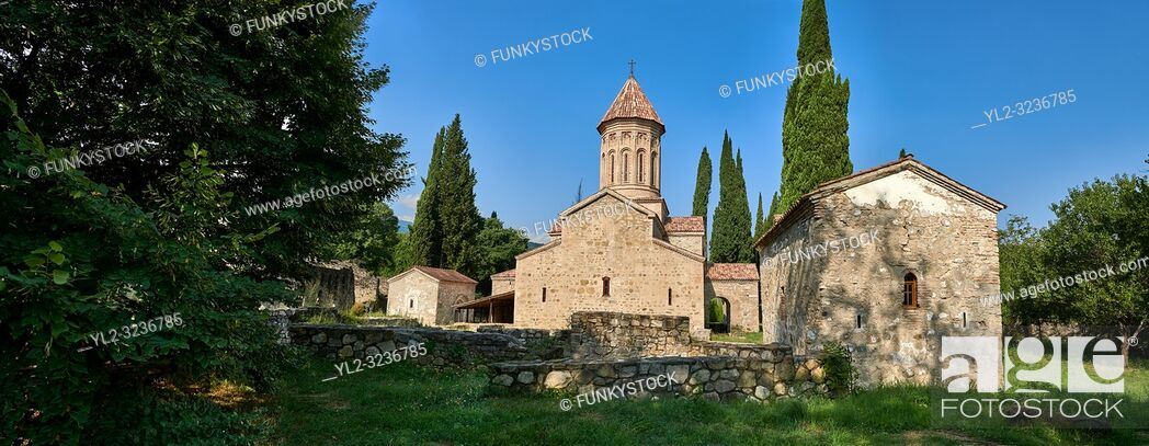 Stock Photo: Pictures & images of the Church of the Transfiguration of Ikalto monastery was founded by Saint Zenon, one of the 13 Syrian Fathers, in the late 6th century.
