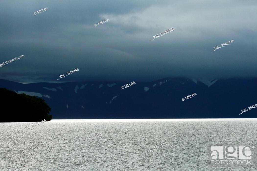 Stock Photo: Kurile lake. Kamchatka. Siberia, Russia.