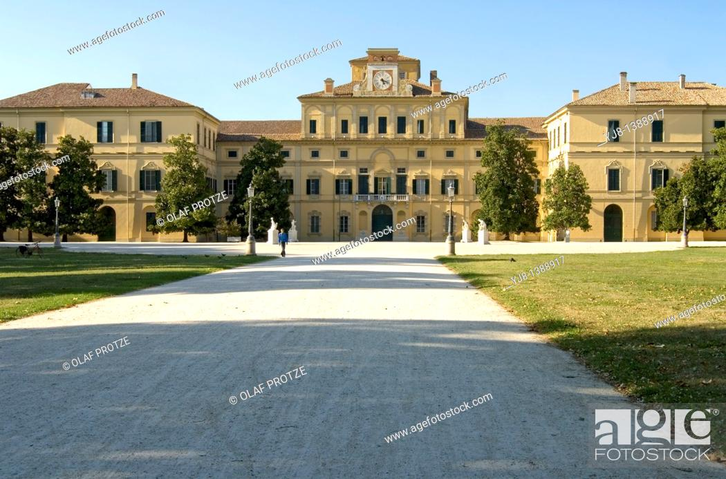 Stock Photo: The Ducal Palace was built from 1561 for Duke Ottavio Farnese on a design by Jacopo Barozzi da Vignola.