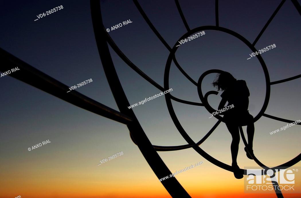 Stock Photo: Spain. Galicia. Pontevedra. Rias Baixas. Cangas. Cabo Home. Sculpture of the Shell.