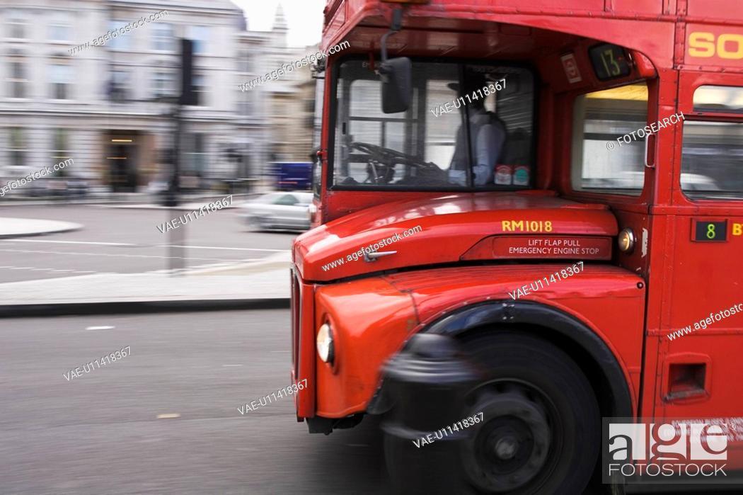 Stock Photo: Bus, Automobiles, Urban.