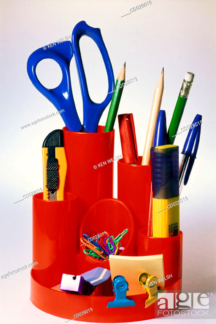 Stock Photo: Desk equipment.