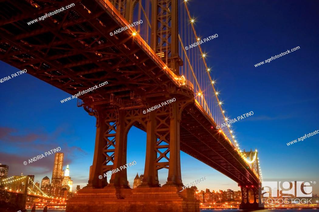 Stock Photo: Manhattan Bridge Overpass, June 2010.