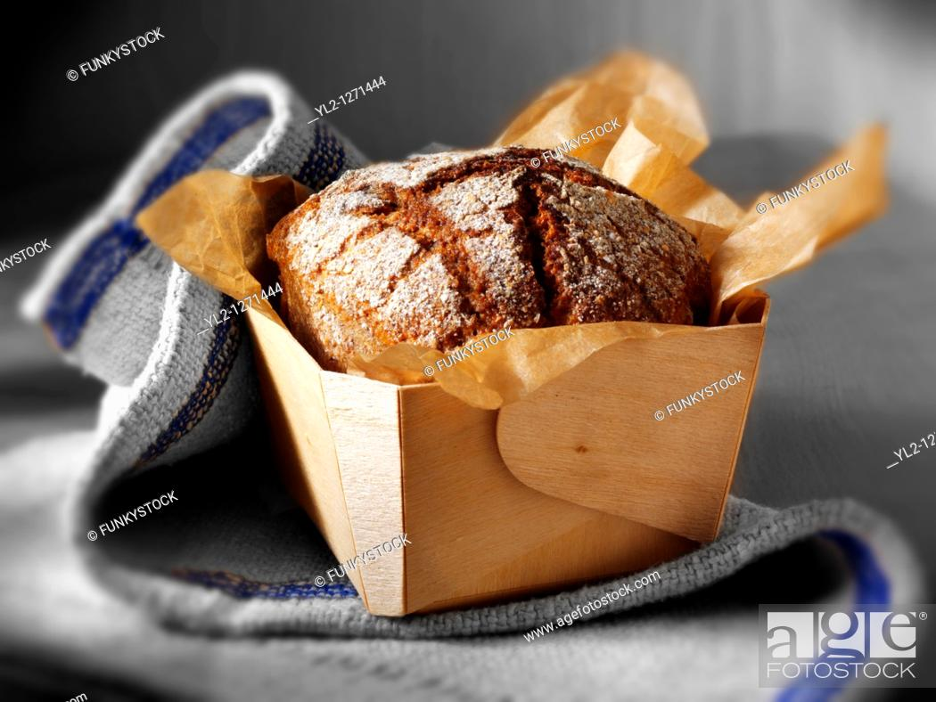 Stock Photo: Deli Rye Bread loaves.