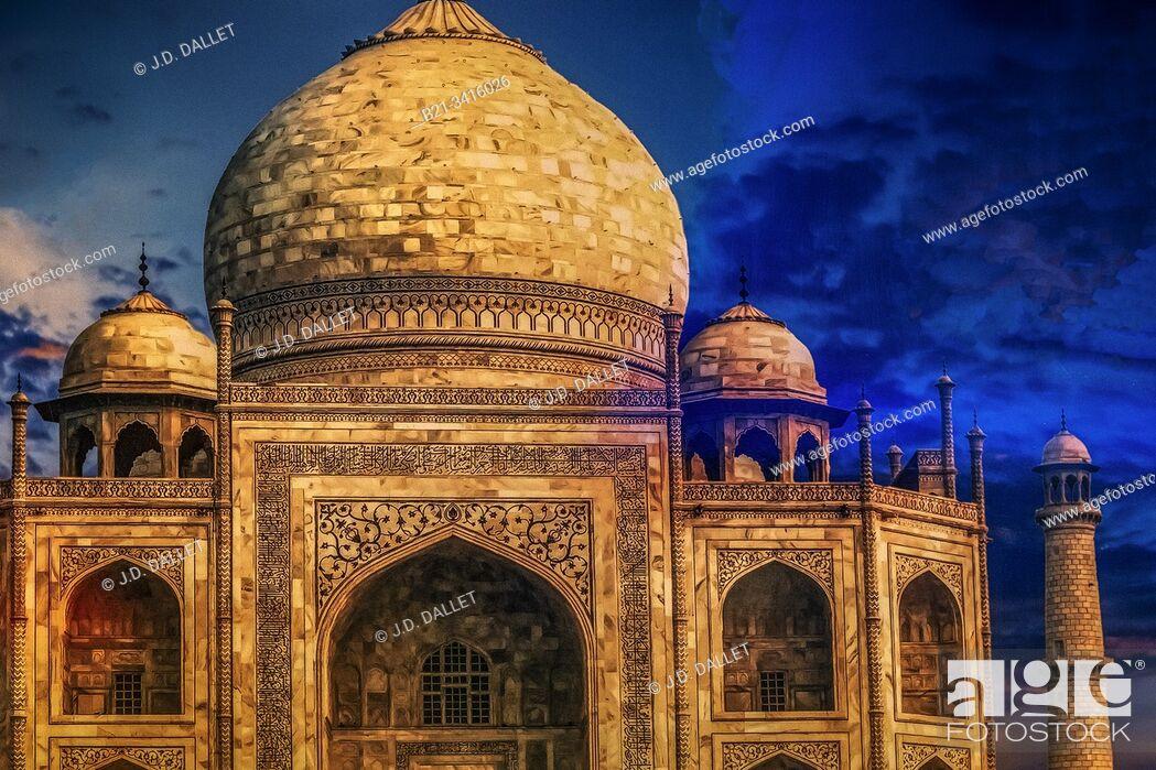 Stock Photo: India, the Taj-Mahal.